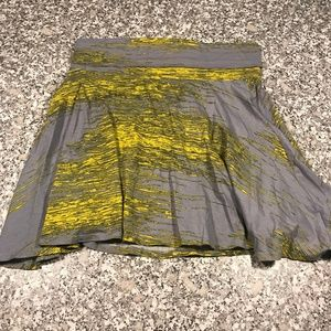 UO BDG Gray Yellow Skater Mini Skirt Size L
